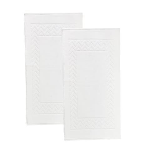 Enchasoft 2pc Turkish Cotton Bath Mat set