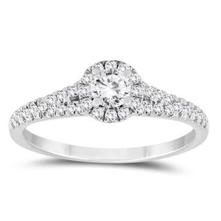 1 2 Carat TW Diamond Engagement Ring In 10K White Gold