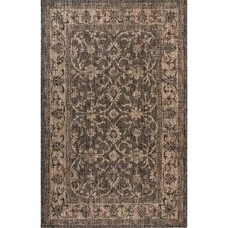 Fab Habitat Essentials Indoor/Outdoor Weather Resistant Floor Mat/Rug Antalya - Vine (4ft x 5ft 6in) - Illusion