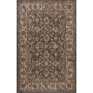 Fab Habitat Essentials Indoor/Outdoor Weather Resistant Floor Mat/Rug Antalya - Vine (7ft 8in x 10ft 8in) - Illusion