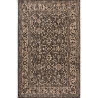 Fab Habitat Essentials Indoor/Outdoor Weather Resistant Floor Mat/Rug Antalya - Vine