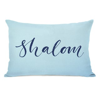 Shalom - Blue 14x20 Throw Pillow by OBC