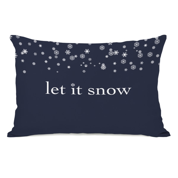 Let It Snow - Blue 14x20 Throw Pillow by OBC. Opens flyout.