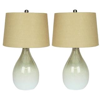 Daliana Set of 2 Mercury Glass Table Lamp Set - 24 inches Height