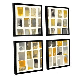 ArtWall Shirly Novak's 'City Windows II' 4-piece Floater-framed Canvas Square Set
