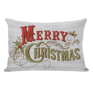Link to Retro Merry Christmas - White Multi 14x20 Throw Pillow by OBC Similar Items in Christmas Decorations
