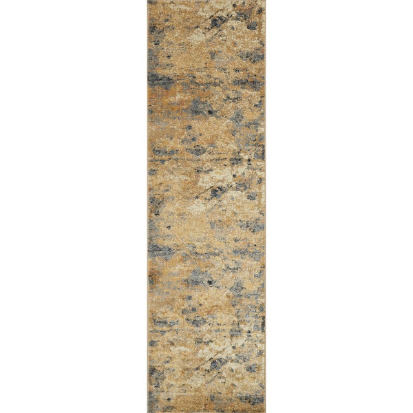 "Alexander Home Phaedra Abstract Grey/Rust/Multicolor Rug - 2'3"" x 10'"