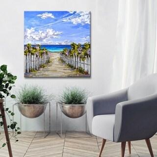 Ready2HangArt 'Bougainvillea Access' by Sarah LaPierre Canvas Wall Decor - Blue