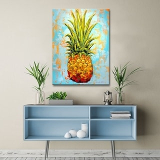The Curated Nomad 'Fiesta Gigantesca' Pineapple Canvas Wall Art