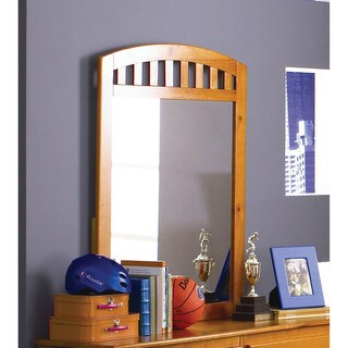 Cambridge Dresser Mirror in Honey Oak