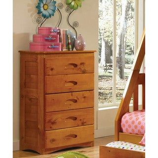 Cambridge 5-Drawer Chest in Honey