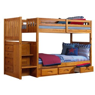 Cambridge Twin-Over-Twin Staircase Bunk Bed