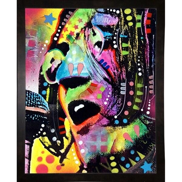 """John Lennon Framed Print 7""""x5.5"""" by Dean Russo"""