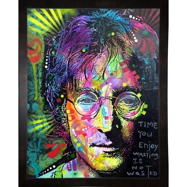 """Lennon Front Framed Print 10""""x7.75"""" by Dean Russo"""