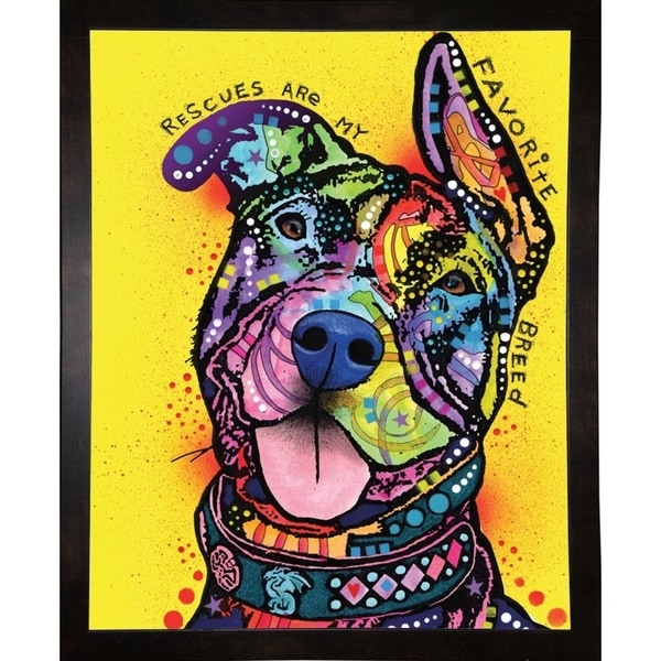 """My Favorite Breed Framed Print 10""""x8"""" by Dean Russo"""