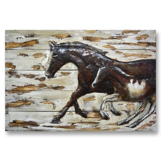 Benjamin Parker 'Travelling Companions' 32 x 48-inch Wood and Metal Wall Art