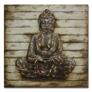 Benjamin Parker 'Zen Being' 39-inch Wood and Metal Wall Art