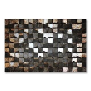 Benjamin Parker 'Gilded Assembly' 30 x 46-inch Mixed Media Wall Art