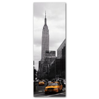 Benjamin Parker 'Taxi City' 16 x 48-inch Tempered Art Glass