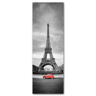 Benjamin Parker 'Eiffel and Red' 16 x 48-inch Tempered Art Glass