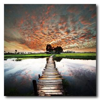 Benjamin Parker 'Sunset Beauty' 32-inch Tempered Art Glass|https://ak1.ostkcdn.com/images/products/18017134/P24186147.jpg?_ostk_perf_=percv&impolicy=medium