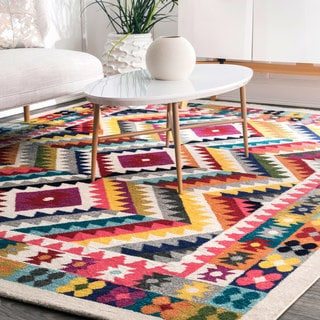 nuLoom Contemporary Southwestern Bohemian Abstract Vision Multi Rug (8'0 x 10'0)