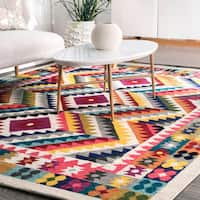 nuLOOM Multi Contemporary Southwestern Bohemian Abstract Vision Area Rug