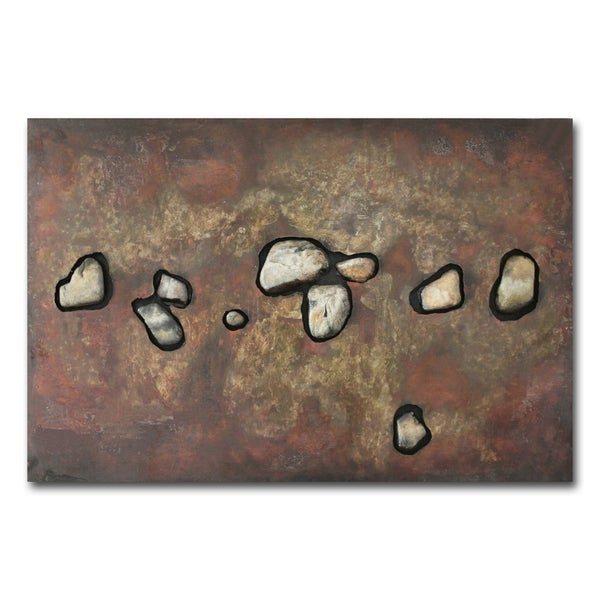 Benjamin Parker Rocks Of Time I 28 X 40 In Dimensional Metal Wall Art Free Shipping Today 24186150