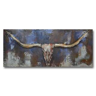 Benjamin Parker 'Longhorn Long' 20 x 47-in Dimensional Metal Wall Art