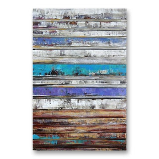 Benjamin Parker 'Washed Colors' 31 x 47-in Dimensional Metal Wall Art