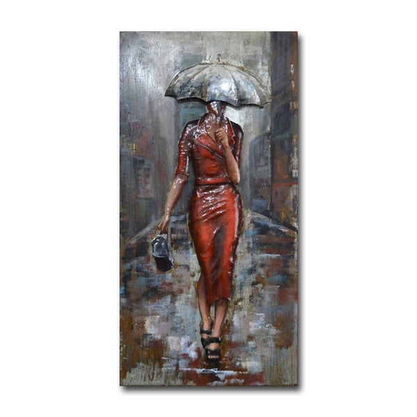 Benjamin Parker 'Shelter in Style' 24 x 47-in Dimensional Metal Wall Art