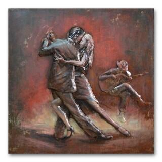 Benjamin Parker 'Tango Dancers' 39-inch Dimensional Metal Wall Art