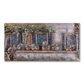 Benjamin Parker 'Flower Gathering' 23 x 47-in Dimensional Metal Wall Art