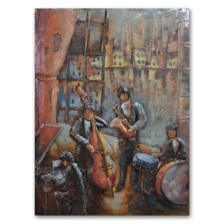 Benjamin Parker 'Quartet' 29 x 39-in Dimensional Metal Wall Art