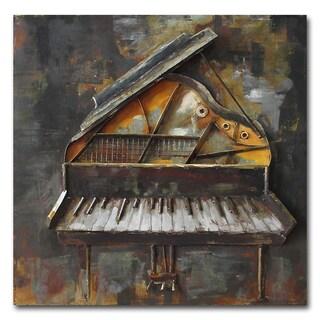 Benjamin Parker 'Piano' 39-inch Dimensional Metal Wall Art