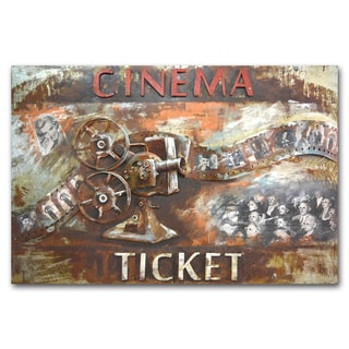 Link to Benjamin Parker 'Got My Ticket' 31 x 47-in Dimensional Metal Wall Art Similar Items in Heaters, Fans & AC