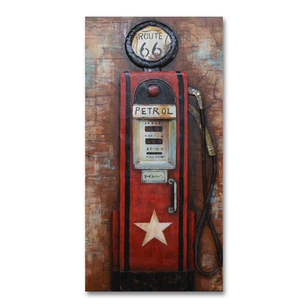 Benjamin Parker 'Fill Up' 24 x 47-in Dimensional Metal Wall Art