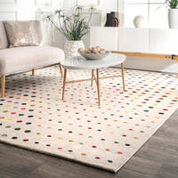 nuLoom Contemporary Bohemian Abstract Polka Dots Multicolored Rug (8' x 10') - multi - 8' x 10'