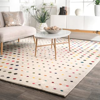 Nuloom Contemporary Bohemian Abstract Polka Dots Multicolored Rug 8 X 10