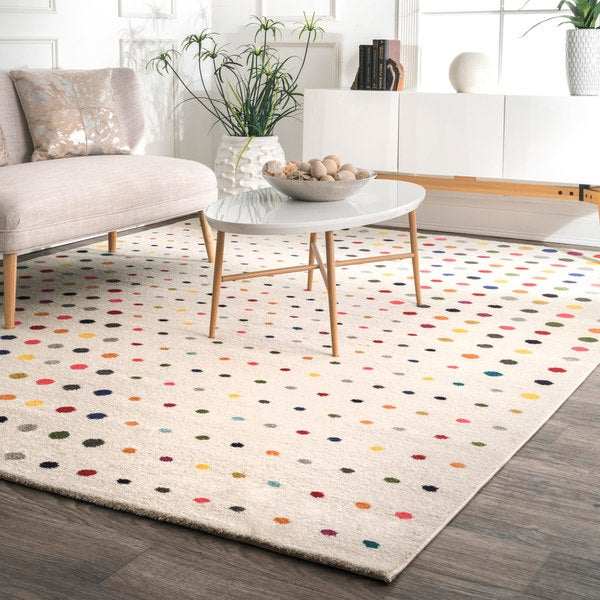 nuLOOM Multi Contemporary Bohemian Abstract Polka Dots Area Rug