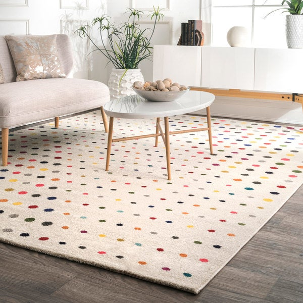 Shop Nuloom Multi Contemporary Bohemian Abstract Polka Dots Area Rug