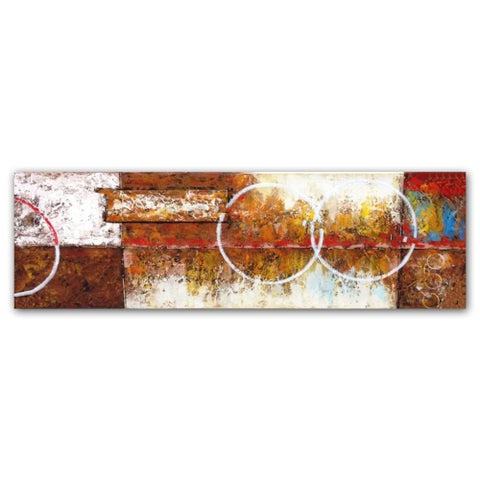 Benjamin Parker 'External Conflict' 22x72-inch Hand Painted Canvas Wall Art