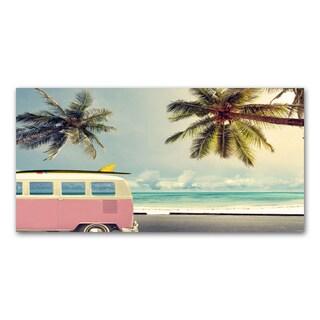 Benjamin Parker 'Coastal Travel II' 24x48-inch Giclee Wall Art