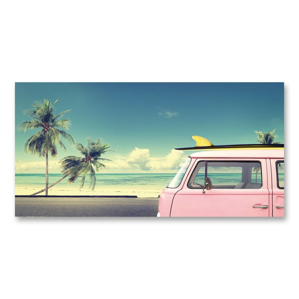 Benjamin Parker 'Coastal Travel I' 24x48-inch Giclee Wall Art