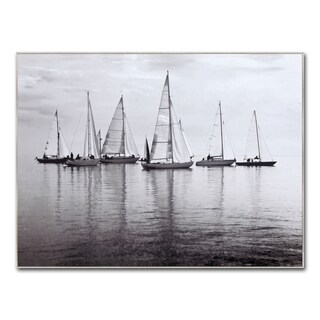 Benjamin Parker 'Calm Waters' 30x40-inch Framed Giclee Wall Art