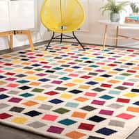 nuLoom Contemporary Bohemian Abstract Square Dots Multicolor Rug - 5' x 8'