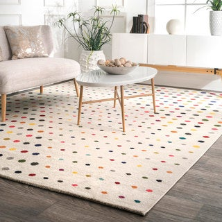 nuLoom Bohemian Multicolored Polka Dot Area Rug (5' x 8') - multi - 5' x 8'