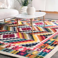 nuLoom Contemporary Southwestern Bohemian Abstract Vision Multicolor Rug (5' x 8')
