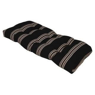 Cabana Stripe Charcoal Outdoor Settee Cushion