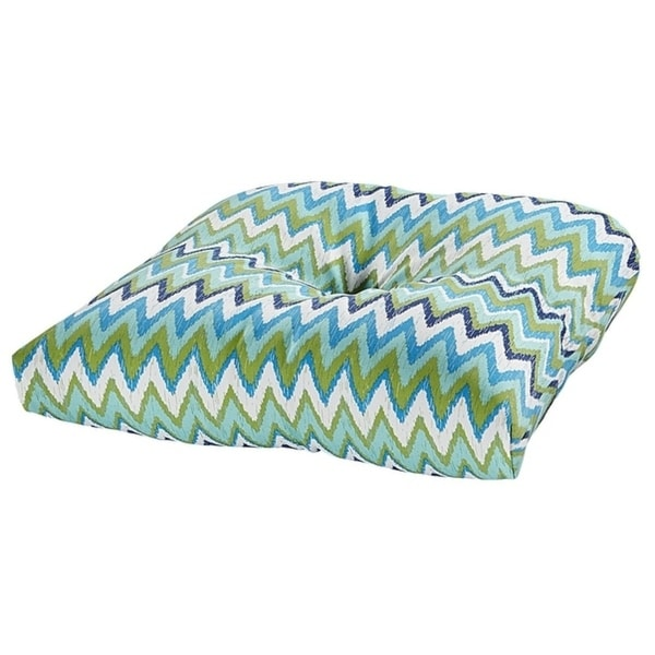 Shop Pulse Aqua Outdoor Chair Cushion Free Shipping On Orders Over